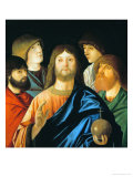 The Redeemer Giving His Blessing Among Four Apostlews Giclee Print by Vittore Carpaccio
