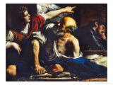 Saint Peter Freed by the Angel Lámina giclée por Guercino (Giovanni Francesco Barbieri)