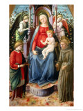 Madonna and Child with Angels and Saints Giclee Print by Francesco Di Stefano Pesellino