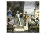 Young Orator in a Village Public School, 1800s Giclee Print
