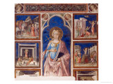 Saint Margaret and Scenes from Her Life Giclée-tryk af Neri Di Bicci