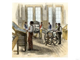 Former Slaves Learning Printing at Hampton Institute in Virginia, 1870s Giclee Print