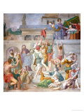 Saint Cecilia Distributing Clothes to the Poor Giclee Print by Domenichino