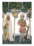 Braves and Heroines Series: King David and Judas Maccabeus Giclee Print by Giacomo Jaquerio