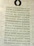 Passage from the Virginia Statue for Religious Freedom in the Jefferson Memorial, Washington DC Photographic Print