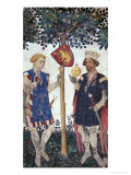 Braves and Heroines Series: Hector of Troy and Alexander the Great Giclee Print by Giacomo Jaquerio