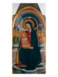 Madonna med barnet Giclée-tryk af Neri Di Bicci