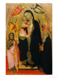 Madonna and Child Enthroned with Saints Giclee Print by Agnolo Gaddi