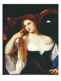 Portrait of a Woman Giclee Print by Titian (Tiziano Vecelli)