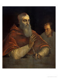 Clement Vii and an Altar Boy Giclee Print by Sebastiano del Piombo