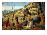 Saint Jerome in the Wilderness with Saints John the Baptist and Mary Magdalene Giclee Print by Jacopo Del Sellaio