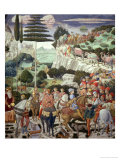 Procession of the Magi: Wall with Giuliano Giclée-tryk af Benozzo Gozzoli