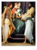 Madonna Enthroned and Saints John the Baptist and John the Evangelist Giclée-tryk af Rosso Fiorentino (Battista di Jacopo)