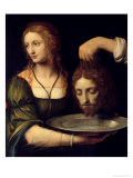 Salome with the Head of the Baptist Giclee Print by Bernardino Luini