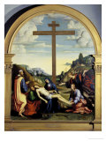 Deposition with Joseph of Arimathea Giclee Print by Francesco Francia