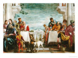Christ and the Magdalen in the House of the Pharisee Giclee Print by Paolo Veronese