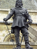 Oliver Cromwell Statue Next to Westminster Abbey, London, England Photographic Print