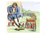Gulliver in Lilliput, from Jonathan Swift&#39;s Gulliver&#39;s Travels Giclee Print