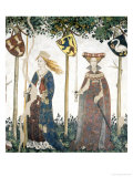Braves and Heroines Series: Sinope and Hippolyta Giclee Print by Giacomo Jaquerio