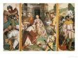 Triptych with the Adoration of the Magi Giclée-tryk af Gaudenzio Ferrari