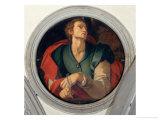 Saint Luke Giclée-tryk af Jacopo da Carucci Pontormo