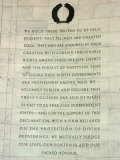 Passage from the Declaration of Independence in the Jefferson Memorial, Washington DC Photographic Print