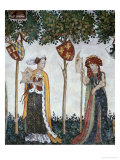 Braves and Heroines Series: Lampetus and Thamyris Giclee Print by Giacomo Jaquerio