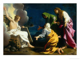 The Three Marys at the Tomb Giclée-tryk af Bartolomeo Schedoni