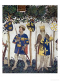Braves and Heroines Series: King Arthur and Charlemagne Giclee Print by Giacomo Jaquerio