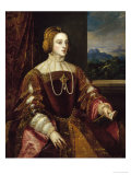 Portrait of Queen Isabel of Portugal Gicle-tryk af Titian (Tiziano Vecelli)