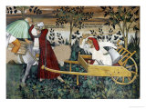 Cart with Figures Giclee Print by Giacomo Jaquerio