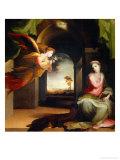 Annunciation Giclée-tryk af Domenico Beccafumi