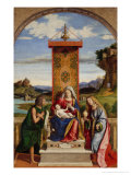 Madonna and Child Between Saints John the Baptist and Mary Magdalene Giclee Print by Giovanni Battista Cima Da Conegliano