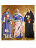 St. Vincent, St. Illuminata and St. Nicholas of Tolentino Giclee Print by Antoniazzo Romano