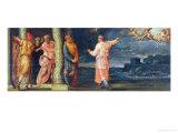 The Prophet Gad Asking David Three Divine Punishment Giclee Print by Giorgio Vasari