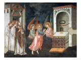 Scenes from the Life of St. John the Evangelist: the Saint with Angels Giclee Print by Pietro Cavallini