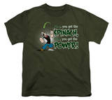 Youth: Popeye - Spinach Power Shirts