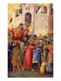 Orsini Polyptych: Road to Calvary Giclee Print by Simone Martini