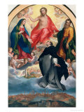 Blessed Ambrogio Sansedoni Interceding For the City of Siena Giclee Print by Francesco Vanni
