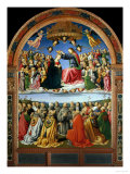 Coronation of the Virgin with Angels and Saints Giclee Print