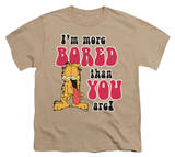 Youth: Garfield - More Bored T-shirts