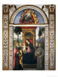 Madonna and Child with Saints Giclee Print by Bernardino di Betto Pinturicchio