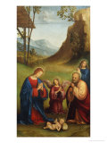 Adoration of the Child Giclee Print by Francesco Francia