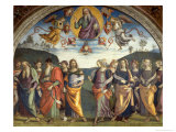 Lunette with Sibyls and Prophets Giclee Print by Pietro Perugino
