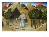 Saint Jerome in the Wilderness Giclee Print by  Sano di Pietro