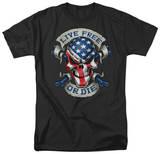 Lethal Threat - Live Free Skull Shirts