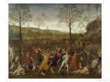 Combat of Love and Chastity Giclee Print by Pietro Perugino