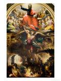 Saint Michael Giclée-tryk af Domenico Beccafumi