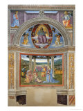 Niche with Annunciation, Christ in Glory and Nativity Giclee Print by Pietro Perugino