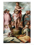 Preaching of St. John the Bapist Giclee Print by Giorgio Vasari